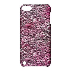 Leaves Pink Background Texture Apple Ipod Touch 5 Hardshell Case With Stand