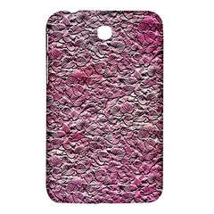Leaves Pink Background Texture Samsung Galaxy Tab 3 (7 ) P3200 Hardshell Case  by Nexatart