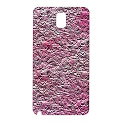 Leaves Pink Background Texture Samsung Galaxy Note 3 N9005 Hardshell Back Case