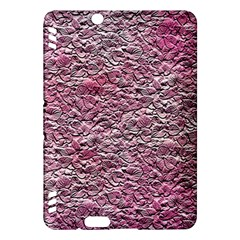 Leaves Pink Background Texture Kindle Fire Hdx Hardshell Case by Nexatart