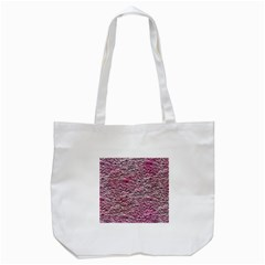 Leaves Pink Background Texture Tote Bag (white) by Nexatart