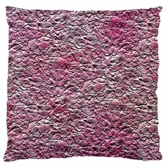 Leaves Pink Background Texture Large Flano Cushion Case (two Sides) by Nexatart