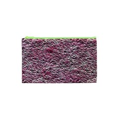 Leaves Pink Background Texture Cosmetic Bag (xs)