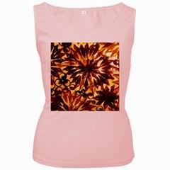 Mussels Lamp Star Pattern Women s Pink Tank Top