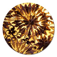 Mussels Lamp Star Pattern Magnet 5  (round)