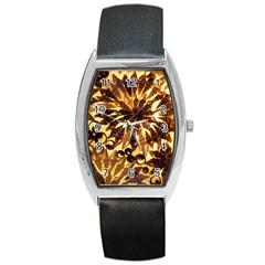 Mussels Lamp Star Pattern Barrel Style Metal Watch