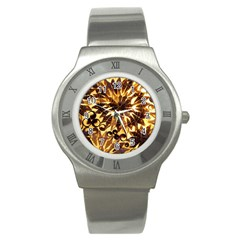 Mussels Lamp Star Pattern Stainless Steel Watch