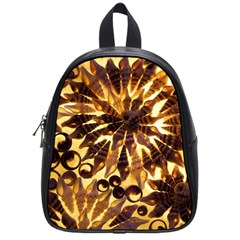 Mussels Lamp Star Pattern School Bags (small)  by Nexatart