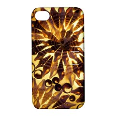 Mussels Lamp Star Pattern Apple Iphone 4/4s Hardshell Case With Stand