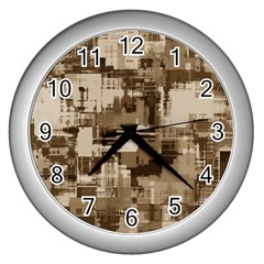 Color Abstract Background Textures Wall Clocks (silver)  by Nexatart