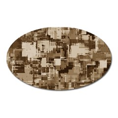 Color Abstract Background Textures Oval Magnet by Nexatart