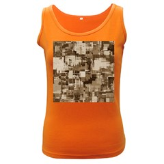 Color Abstract Background Textures Women s Dark Tank Top