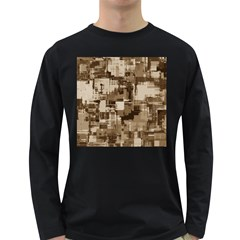 Color Abstract Background Textures Long Sleeve Dark T Shirts
