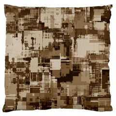 Color Abstract Background Textures Large Flano Cushion Case (one Side)