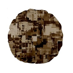 Color Abstract Background Textures Standard 15  Premium Flano Round Cushions by Nexatart