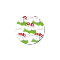Mushroom Luck Fly Agaric Lucky Guy Golf Ball Marker (4 pack)