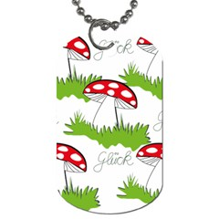 Mushroom Luck Fly Agaric Lucky Guy Dog Tag (two Sides)