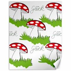 Mushroom Luck Fly Agaric Lucky Guy Canvas 18  X 24   by Nexatart