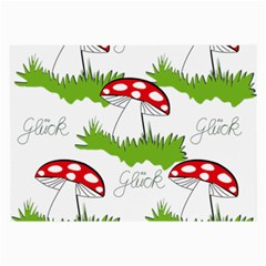 Mushroom Luck Fly Agaric Lucky Guy Large Glasses Cloth by Nexatart