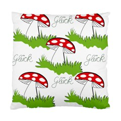 Mushroom Luck Fly Agaric Lucky Guy Standard Cushion Case (one Side)
