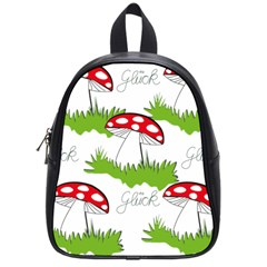 Mushroom Luck Fly Agaric Lucky Guy School Bags (small)