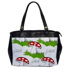 Mushroom Luck Fly Agaric Lucky Guy Office Handbags by Nexatart