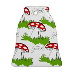 Mushroom Luck Fly Agaric Lucky Guy Bell Ornament (two Sides)
