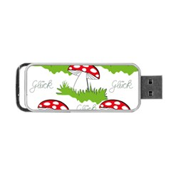 Mushroom Luck Fly Agaric Lucky Guy Portable Usb Flash (two Sides) by Nexatart