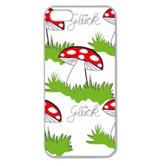 Mushroom Luck Fly Agaric Lucky Guy Apple Seamless Iphone 5 Case (clear) by Nexatart