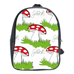 Mushroom Luck Fly Agaric Lucky Guy School Bags (xl)  by Nexatart