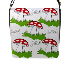 Mushroom Luck Fly Agaric Lucky Guy Flap Messenger Bag (l)  by Nexatart
