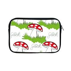 Mushroom Luck Fly Agaric Lucky Guy Apple Ipad Mini Zipper Cases by Nexatart