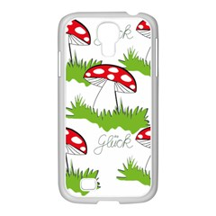 Mushroom Luck Fly Agaric Lucky Guy Samsung Galaxy S4 I9500/ I9505 Case (white)