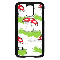 Mushroom Luck Fly Agaric Lucky Guy Samsung Galaxy S5 Case (black) by Nexatart