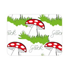Mushroom Luck Fly Agaric Lucky Guy Double Sided Flano Blanket (mini)  by Nexatart