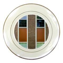 Pattern Symmetry Line Windows Porcelain Plates by Nexatart