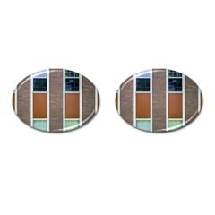Pattern Symmetry Line Windows Cufflinks (oval) by Nexatart