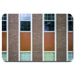 Pattern Symmetry Line Windows Large Doormat