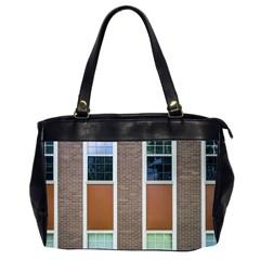 Pattern Symmetry Line Windows Office Handbags (2 Sides)  by Nexatart