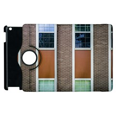 Pattern Symmetry Line Windows Apple Ipad 2 Flip 360 Case by Nexatart