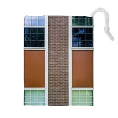 Pattern Symmetry Line Windows Drawstring Pouches (extra Large)