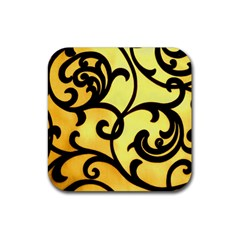 Texture Pattern Beautiful Bright Rubber Square Coaster (4 Pack)  by Nexatart