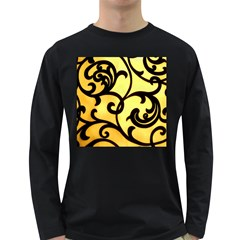 Texture Pattern Beautiful Bright Long Sleeve Dark T Shirts
