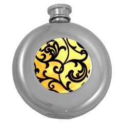 Texture Pattern Beautiful Bright Round Hip Flask (5 Oz) by Nexatart