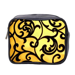 Texture Pattern Beautiful Bright Mini Toiletries Bag 2 Side