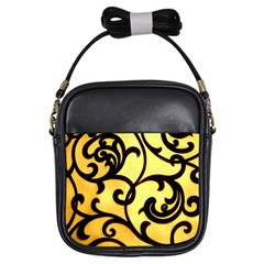 Texture Pattern Beautiful Bright Girls Sling Bags by Nexatart