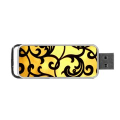 Texture Pattern Beautiful Bright Portable Usb Flash (two Sides) by Nexatart