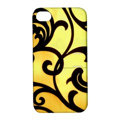 Texture Pattern Beautiful Bright Apple Iphone 4/4s Hardshell Case With Stand by Nexatart