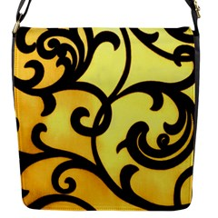 Texture Pattern Beautiful Bright Flap Messenger Bag (s)