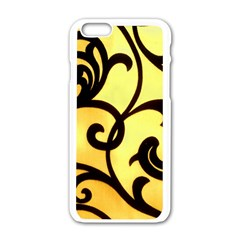 Texture Pattern Beautiful Bright Apple Iphone 6/6s White Enamel Case by Nexatart